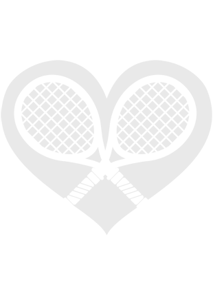 Front Twist T-Back Tennis Tank-White/Aqua Blue